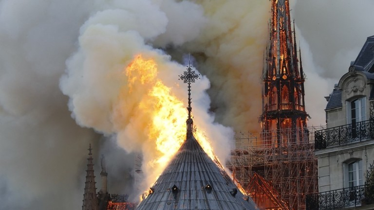 NOTRE DAME ON FIRE: DEVASTATION IN A CHRISTIANITY SYMBOL