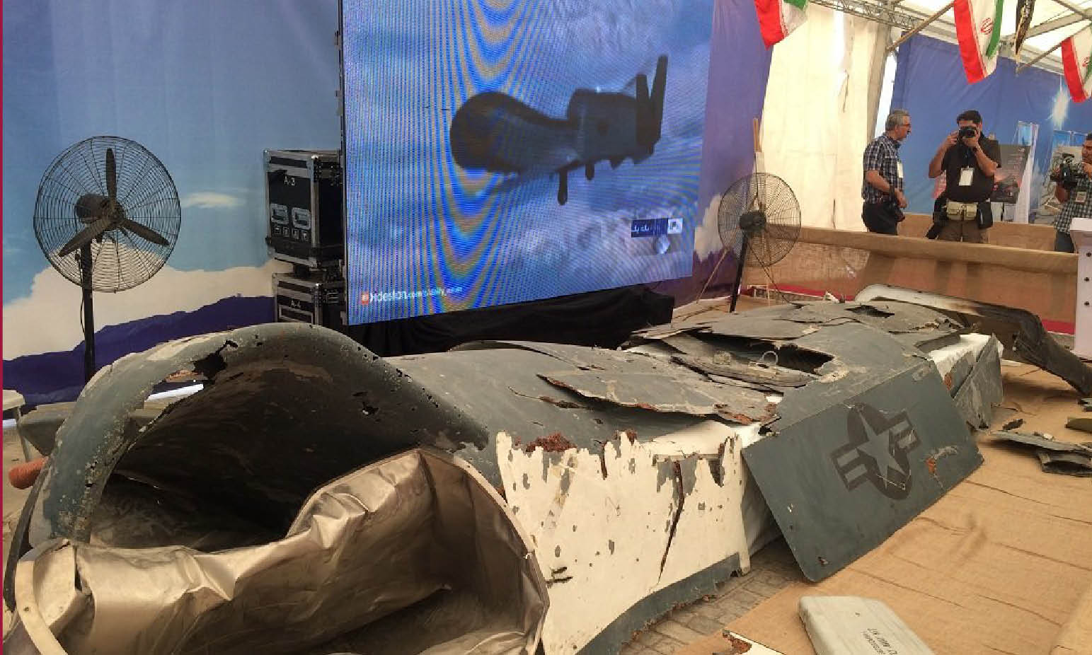 ORIGINAL WAR'S SHOW IN IRAN: IN EXHIBITION THE US & ISRAELI DRONES DOWNED