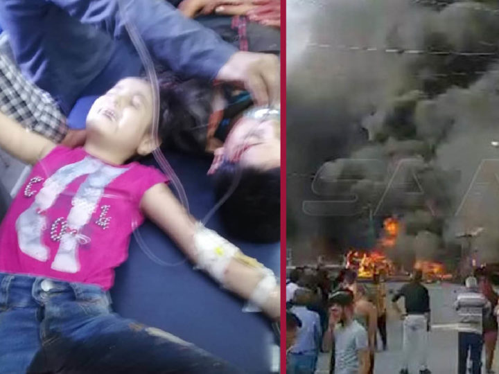 Sara, the martyr 10yo child in the Christians' nightmare. Two dams bombed, Rojava without drinking water
