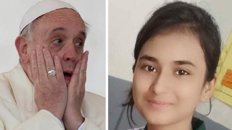 Appeal to Pope for Huma Younas, 14yo Christian girl abducted by a Muslim and forcibly converted to Islam for marriage