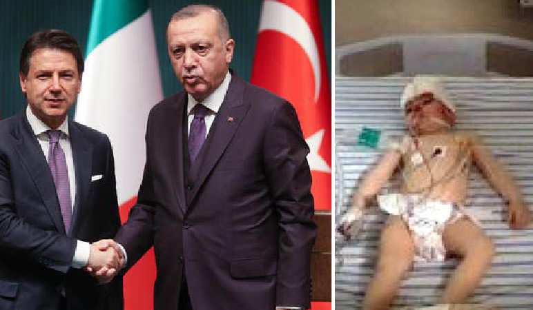 Italy hugs Erdogan for Libya: meanwhile Turkish jihadists kill civilians and wounded toddlers in Syria