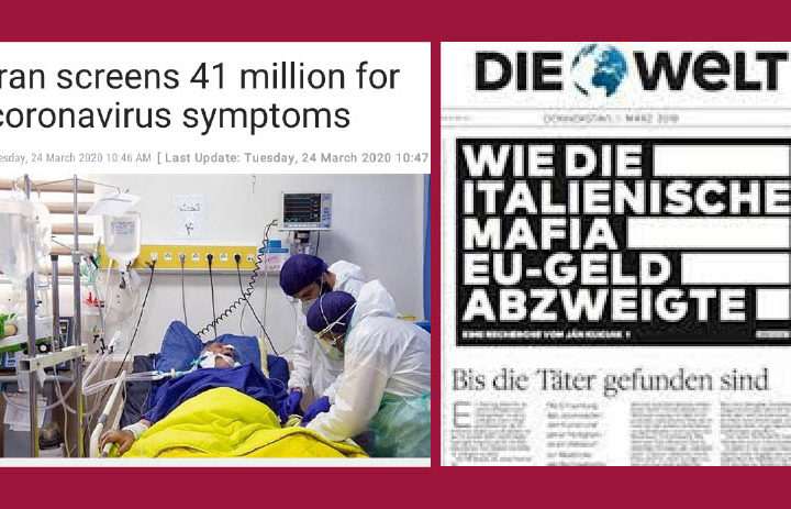 """CoronaVirus: Thanks 41 million Tests, """"Only"""" 4 thousand Dead: Iran Mortify Italy Blamed for Mafia"""