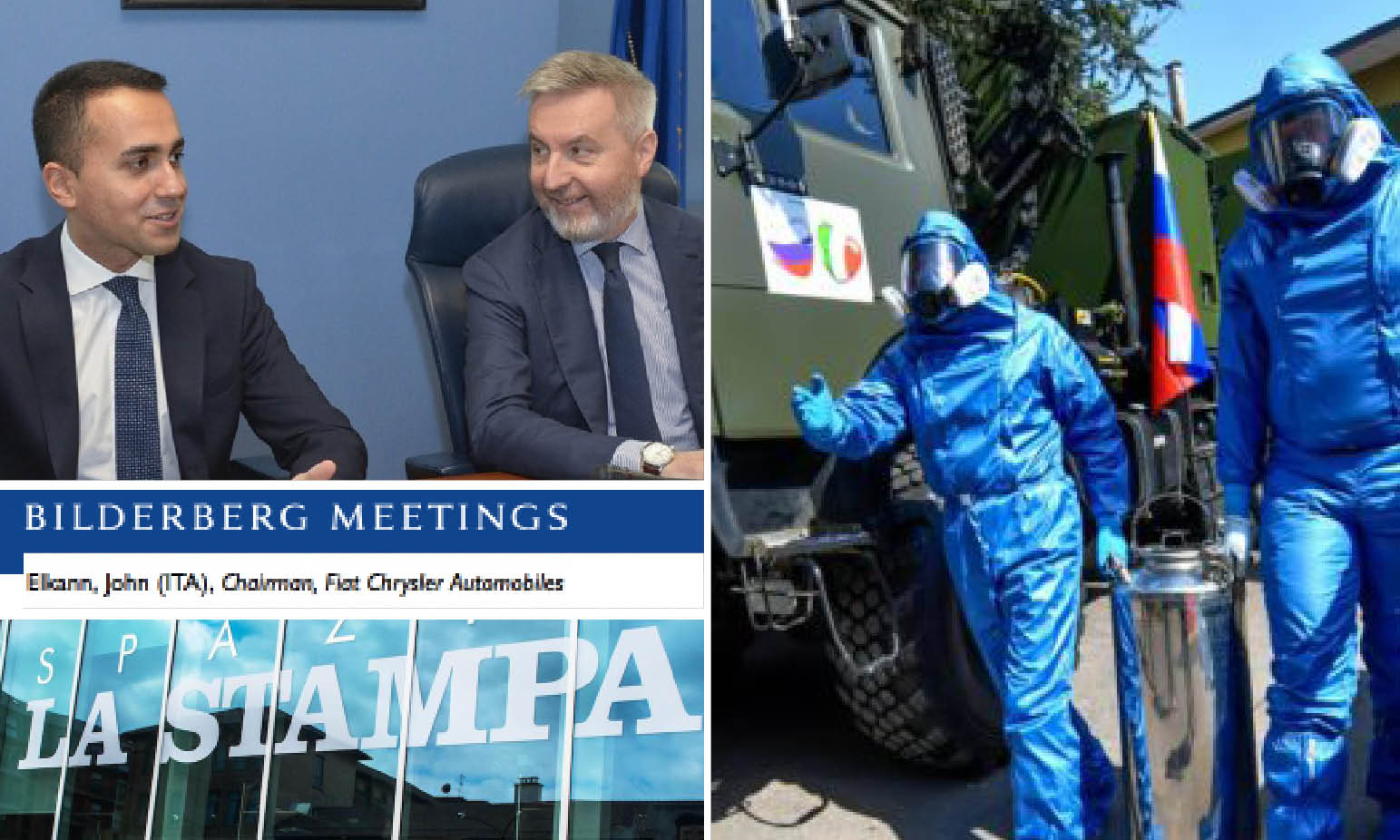 "SARS-2: for defending ""Bilderberg's Fake News"" Italian Govt Blames Russia wich Helps It"