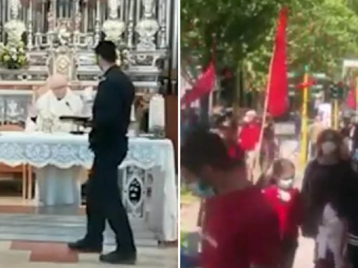 Italy: Masonic Lockdown! Churches banned for Funerals. Squares Open for Kommunists. Mobsters freed