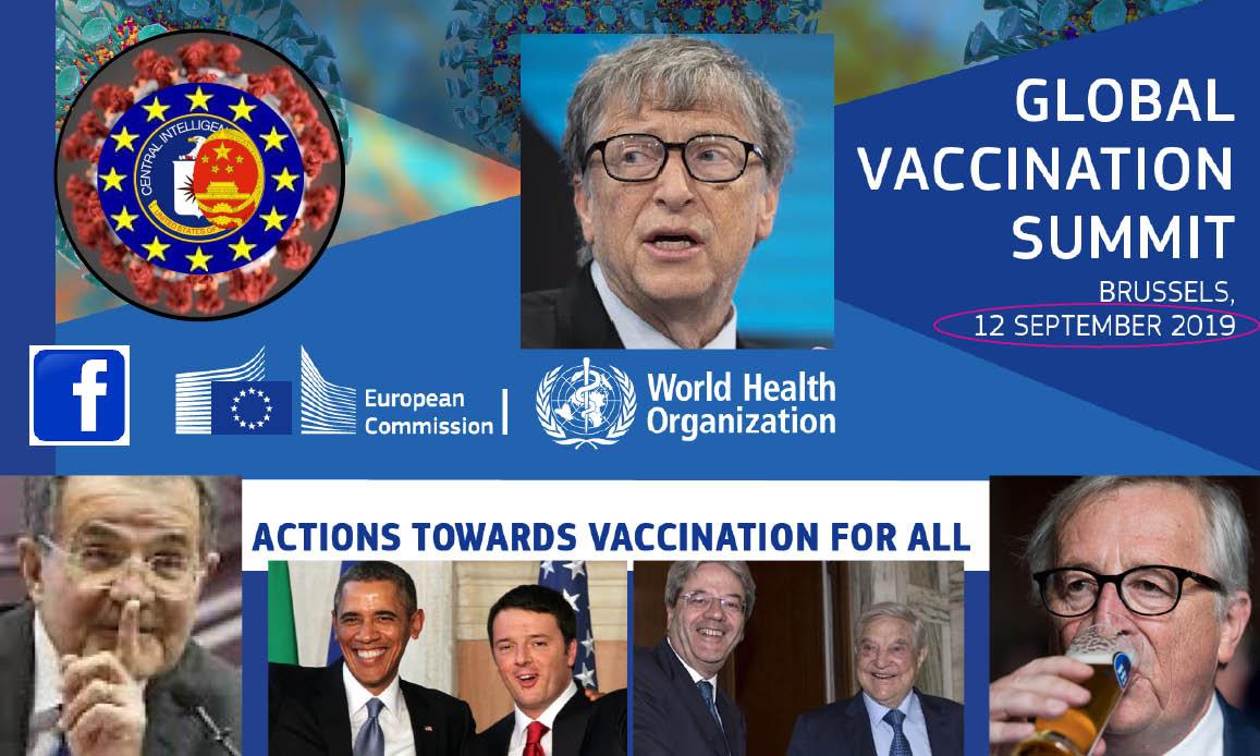 WUHAN-GATES – 10. SHADY PLOT: EU Summit with 4 Gates' NGO, Big Pharma & FB before Pandemic (SARS-2 built with HIV)