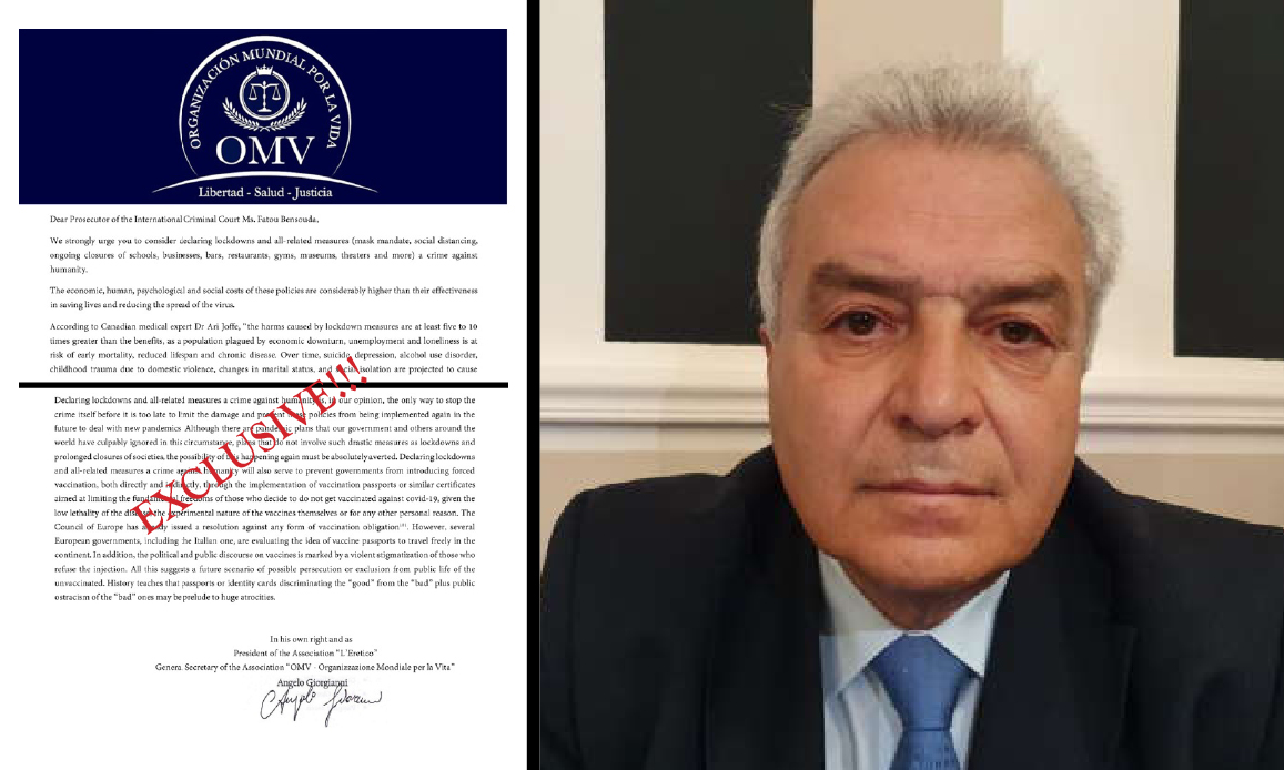 """""""EU Hard Lockdowns are Crimes against Humanity"""". Italian Magistrate's Complaint to Hague Court"""