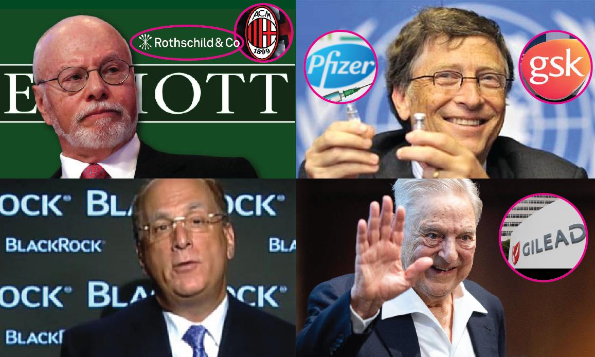 Zionist Lobby – 1. Singer (Elliott) & Fink (BlackRock) within Gates-Soros in Covid Big Pharma's Business(GSK & Gilead)
