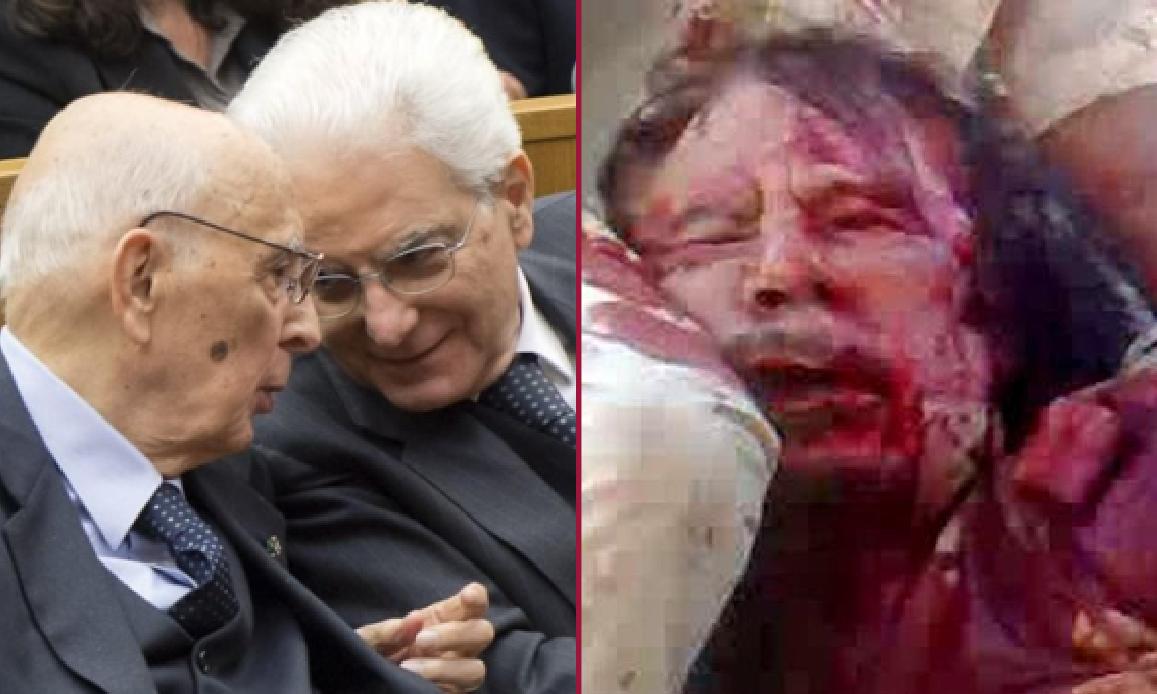 CENTINAIA DI MORTI IN LIBIA SULLA COSCIENZA SPORCA DI NAPOLITANO