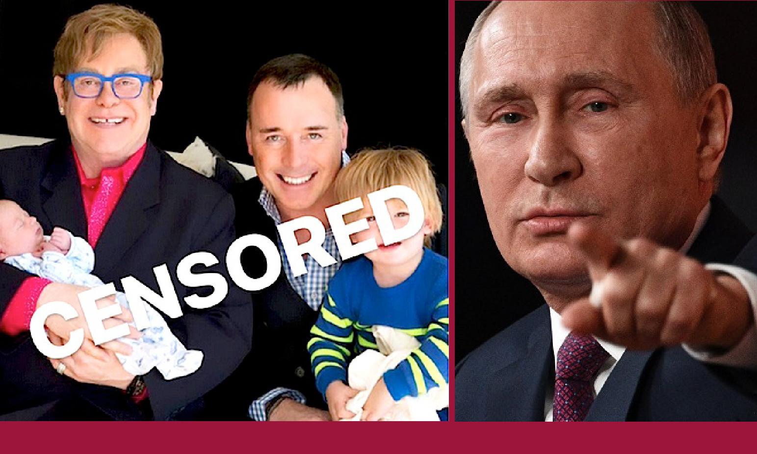 RUSSIA: FILM GAY TAGLIATO, ELTON JOHN PROTESTA CON PUTIN