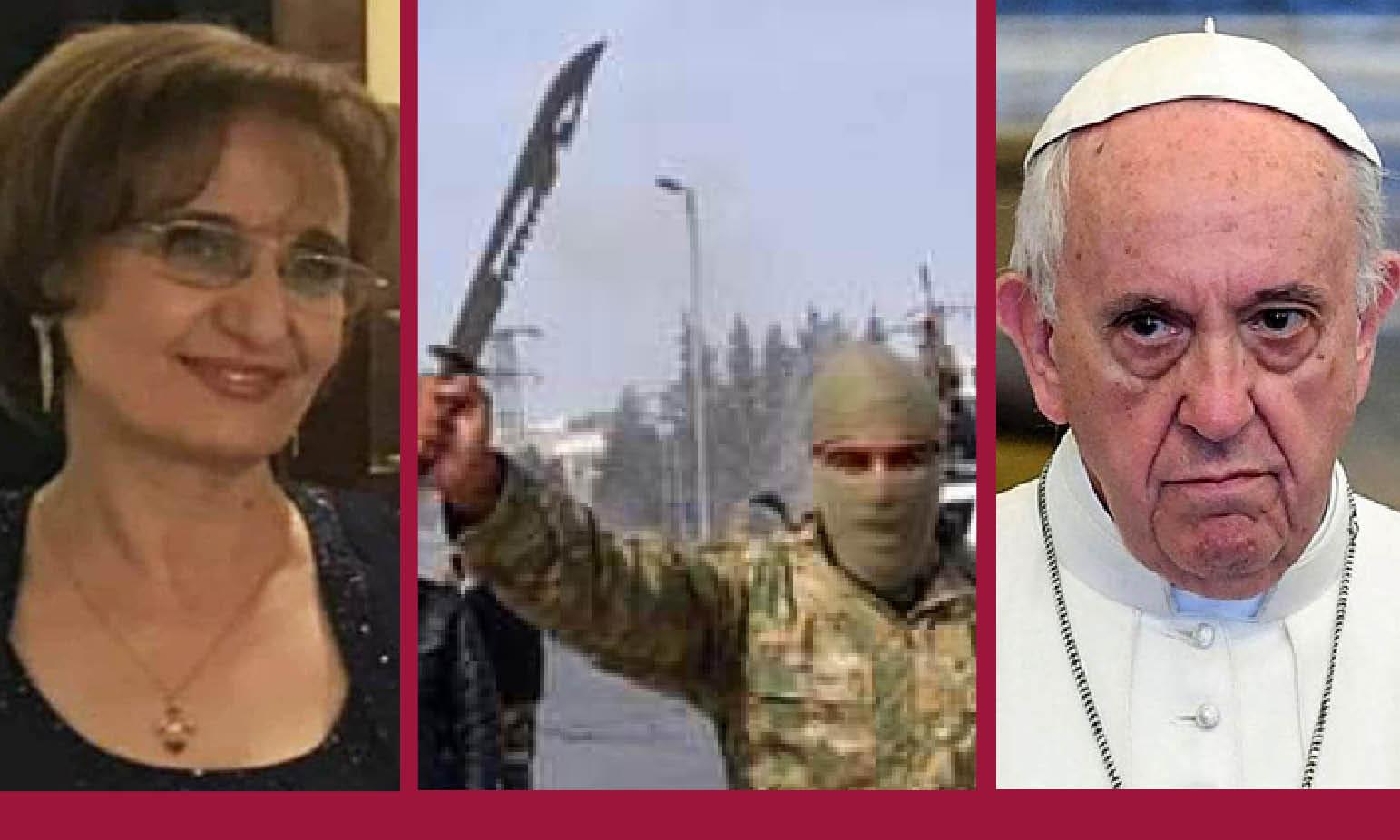 IDLIB: JIHADISTI STUPRANO E LAPIDANO UNA CRISTIANA, IL PAPA BACCHETTA LA SIRIA