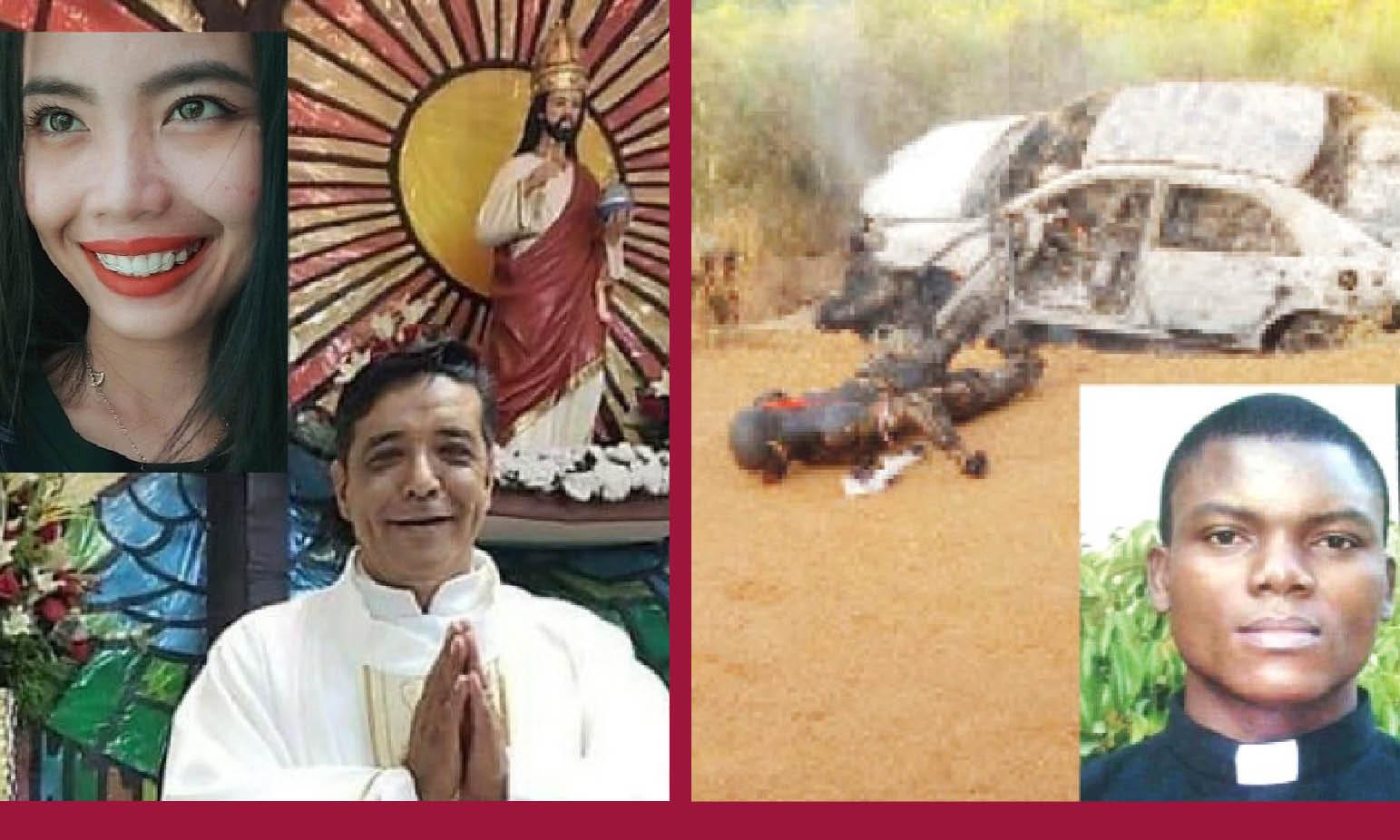 PRETI E VOLONTARI PUGNALATI, MUTILATI E BRUCIATI PERCHE' CRISTIANI