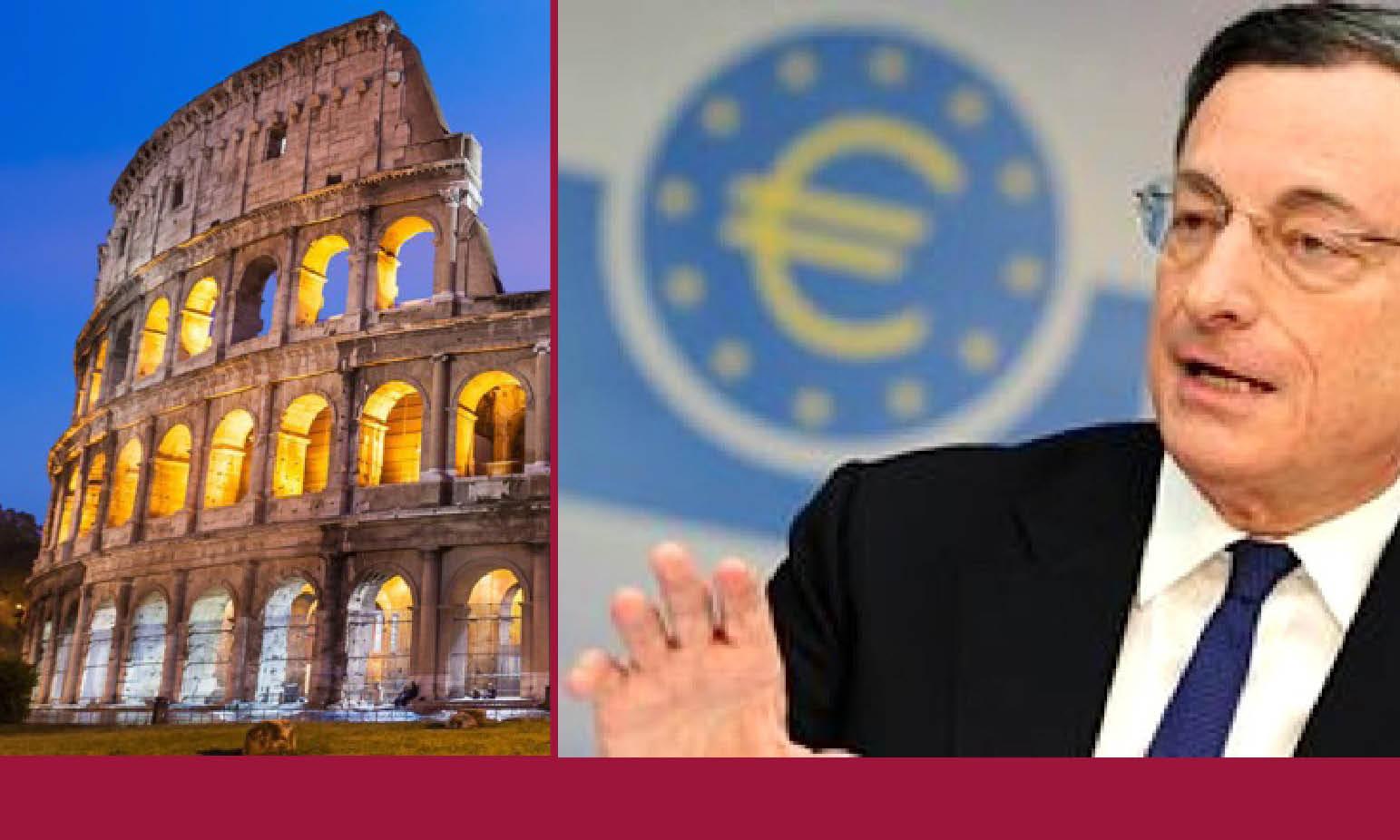 """IL BAZOOKA """"QE"""" DI DRAGHI: per fare più debito e rapinare i beni d'Italia"""