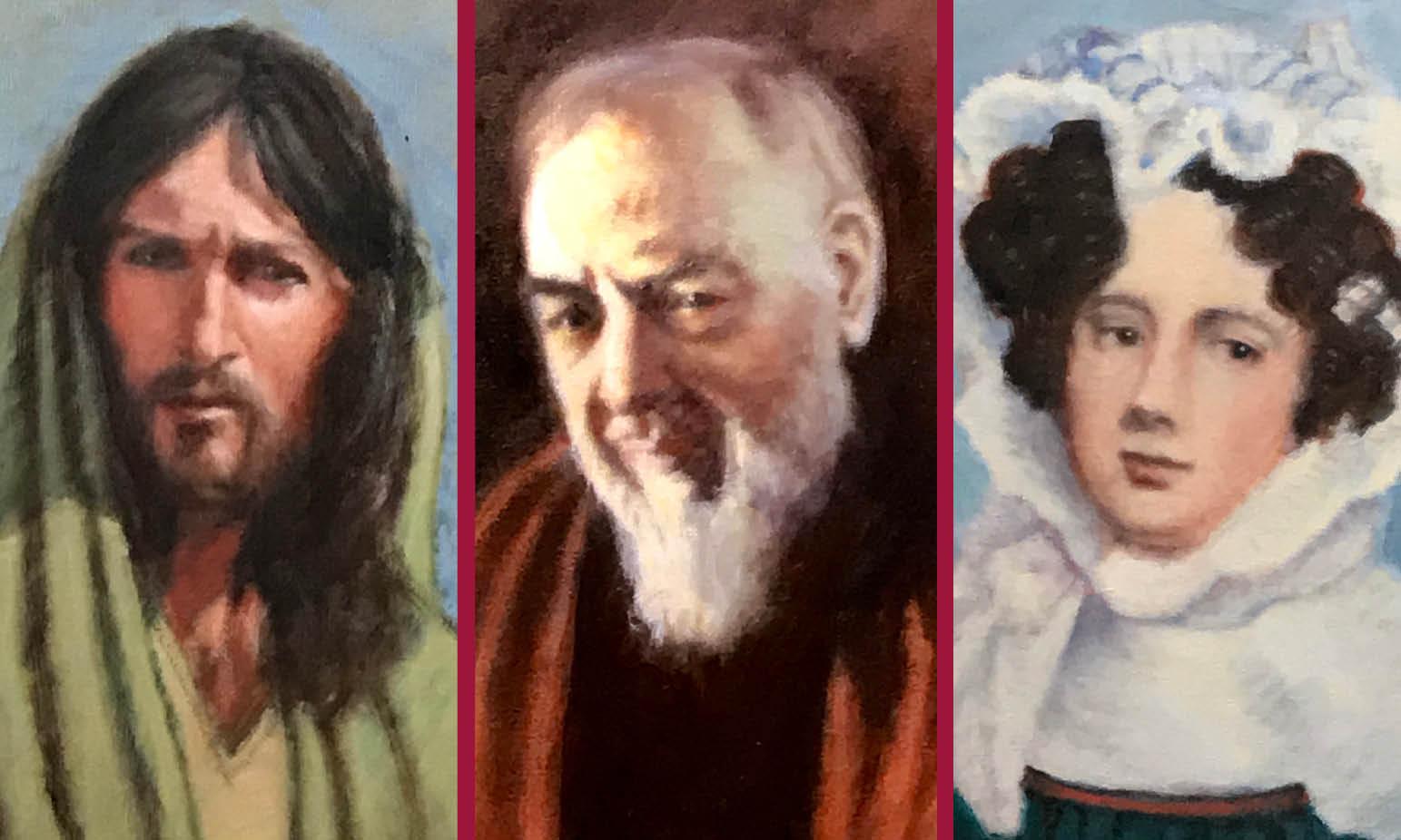 I VOLTI DELL'ANIMA DIPINTI DA GRISO: il Cristo di Zeffirelli, San Pio e l'autoritratto di Giulia di Barolo