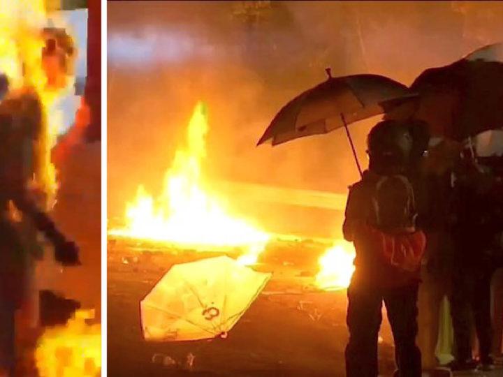 HONG KONG: LE MOLOTOV DEI PACIFISTI CANVAS-USA: campus e metrò incendiati, uomo dato alle fiamme, parlamentare accoltellato