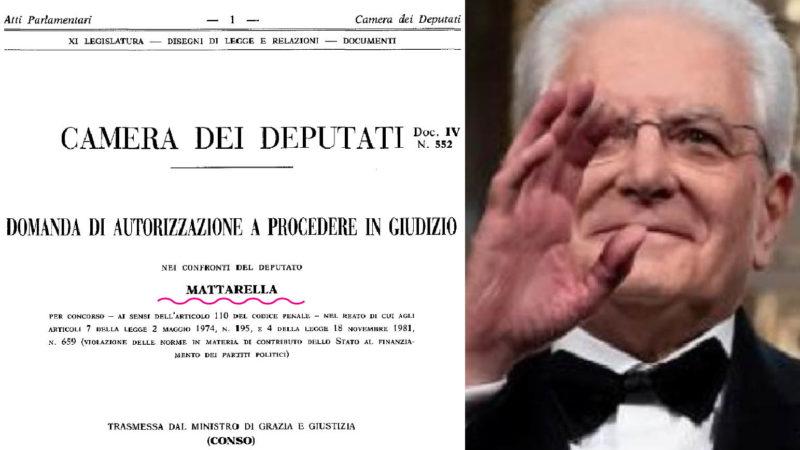 """ITALIA MAFIA X-FILE: Dagli atti parlamentari la storia dei milioni dati dall'affarista di Riina a Mattarella: assolto per """"modica quantità""""…"""