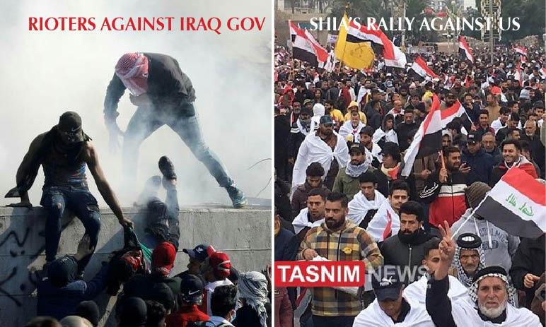 """INFERNO DI TRUMP IN IRAQ! """"Mercenari uccidono i rivoltosi, Miliziani Isis schierati"""". Grande protesta Sciita contro gli Usa"""