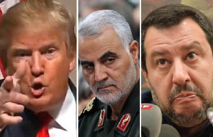 Iraq: menzogne e stragi di Trump contro i nemici dell'Isis. Plauso idiota di Salvini. 3mila soldati Usa in Kuwait