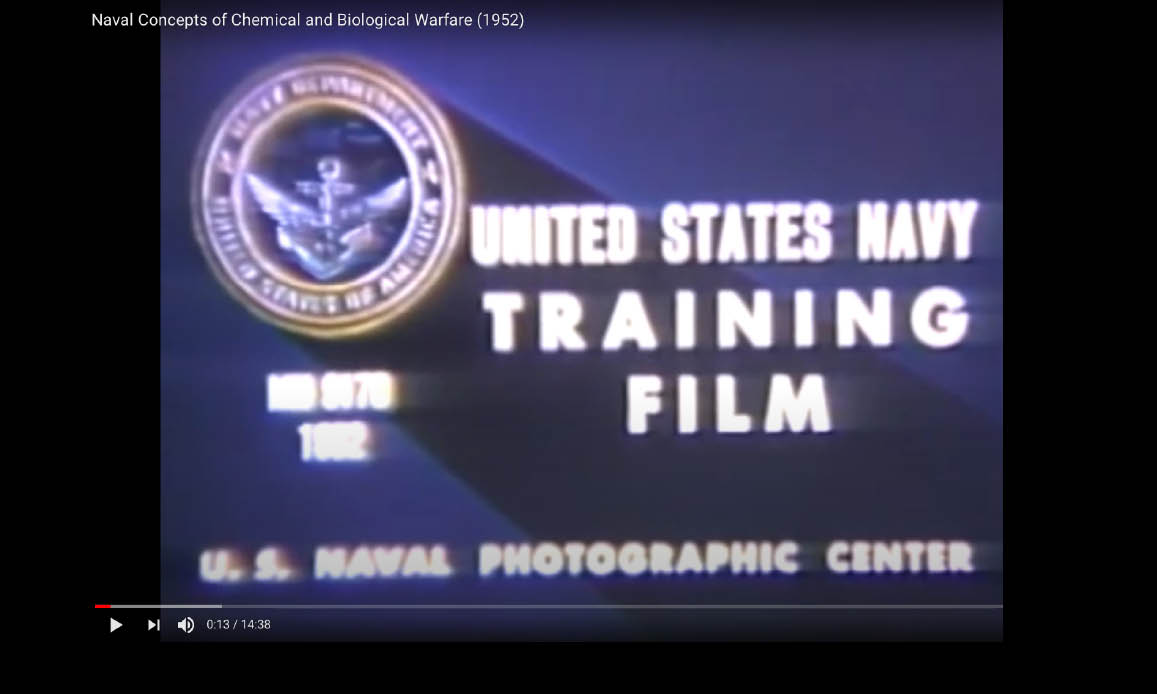 Esclusivo! Video Desecretato US NAVY: GUERRA BIOLOGICA FIN DAL 1952