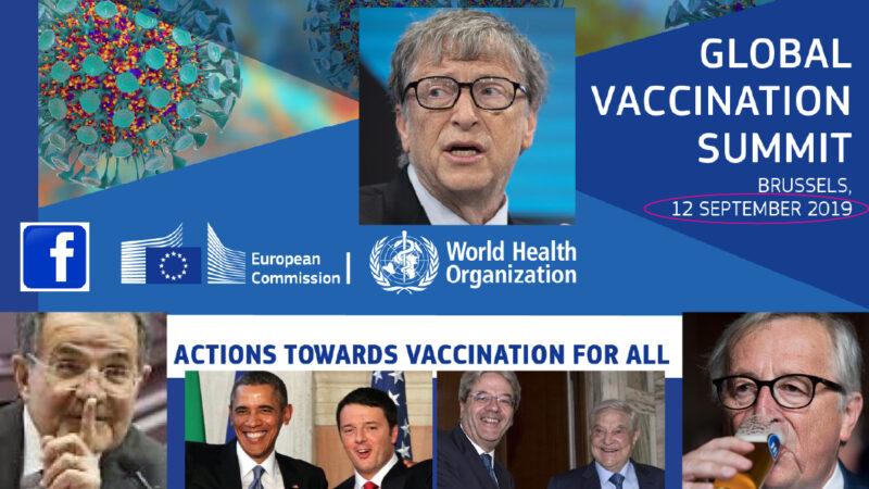 WUHAN-GATES – 10. LOSCO COMPLOTTO: Summit UE con 4 ONG di Gates, Big Pharma e FB prima della Pandemia da SARS-2 con HIV