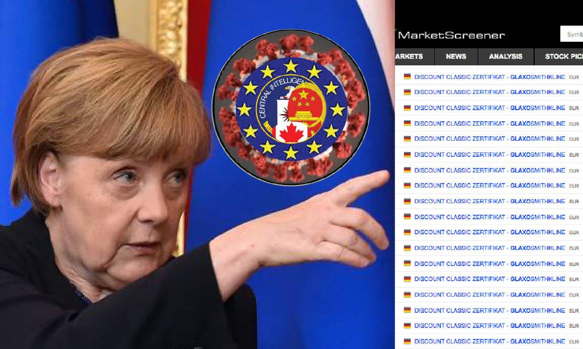 WUHAN-GATES – 13. Nuova Pandemia prevista dalla Merkel… Borse tedesche speculano su Big Pharma di Gates