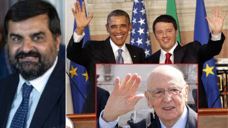"""PALAMARA-GATE – 4. NEL MIRINO 10  TOGHE ROSSE. Intrighi col """"Cerchio Magico"""" Napolitano-Renzi e l'OBAMA-GATE su 007 e vaccini Gates-Soros"""
