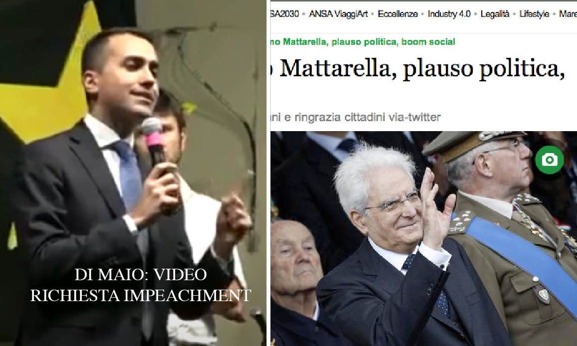 """BUON COMPLEANNO A MATTARELLA: Per l'Ansa """"Il più amato dagli italiani"""". Ma rischiò l'impeachment da Di Maio!"""