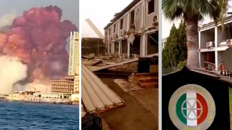BEIRUT: BASE MILITARE ITALIANA DEVASTATA DALL'ESPLOSIONE. Video shock sulla caserma del soldato ferito