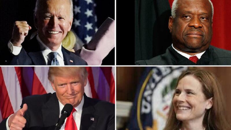 """TRAPPOLA DI TRUMP SUL LOSCO CONTA-VOTI """"DOMINION"""". Appello alla Corte Suprema (dei giudici Barrett e Thomas vessati da Biden), sul """"software di Clinton"""". Bocciato dal Texas"""
