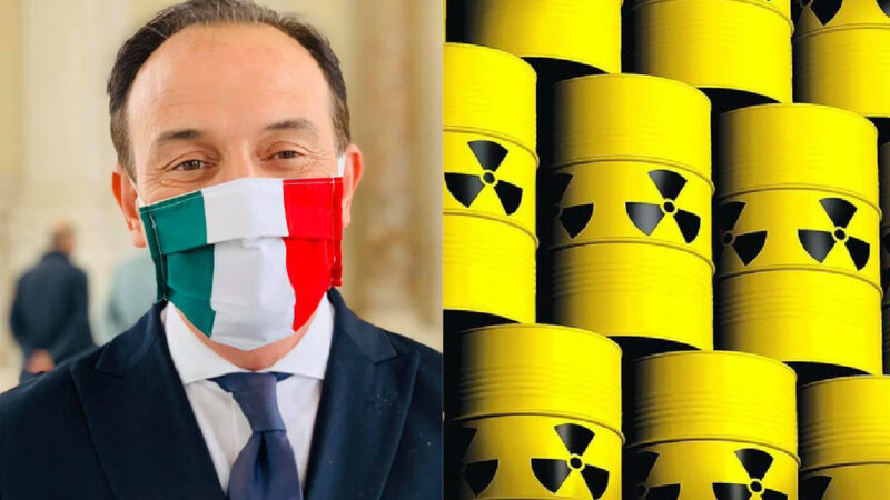 PIEMONTE A RISCHIO DISCARICA NUCLEARE! Roma sovrasta il governatore Cirio, succube inerme del premier Conte nella Pandemia
