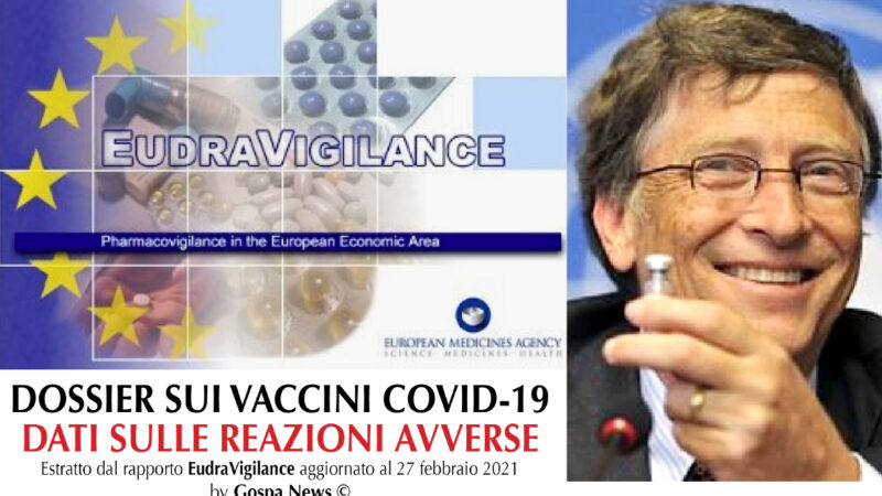 STRAGE TRA VACCINATI COVID. L'ITALIA SUPERA GLI USA PER REAZIONI AVVERSE. Più di mille morti negli States, 2.787 casi fatali in Europa