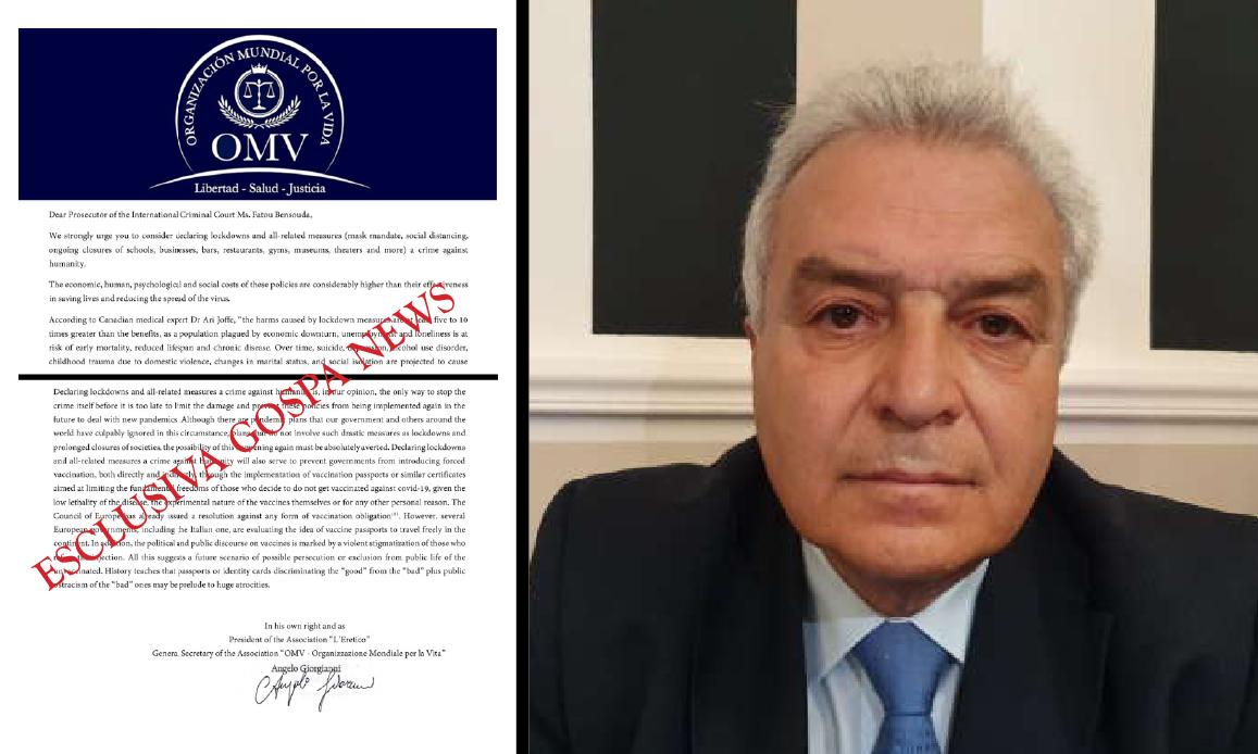 LOCKDOWN: CRIMINI CONTRO L'UMANITA'. Denuncia di Giorgianni all'Aja