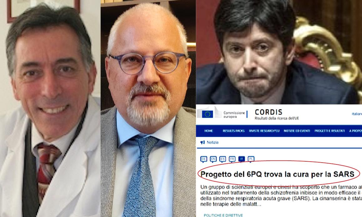 """CURE COVID IGNORATE, DENUNCIA-BOMBA DI TRINCA E FUSILLO AI PM: """"Farmaco antiSARS finanziato UE ma Inutilizzato in Pandemia"""" (video)"""