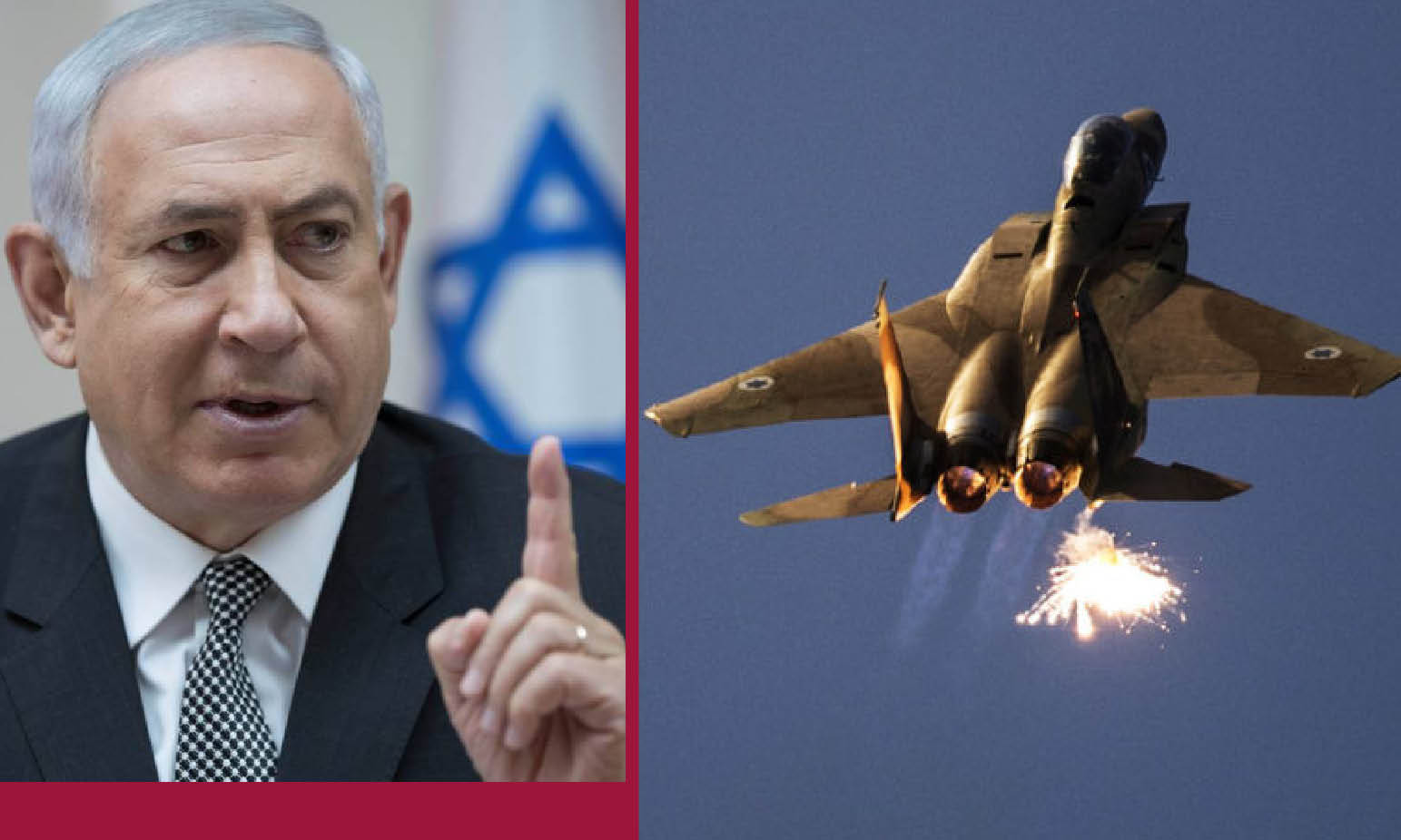 THE ZIONIST GANGSTER NETANYAHU ATTACKS SYRIA FOR TRIGGING HELL