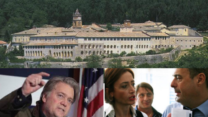 BATTLE FOR ITALIAN MONASTERY: Bannon's sovereign Christian gladiators against LGBT globalist cattoKomunists
