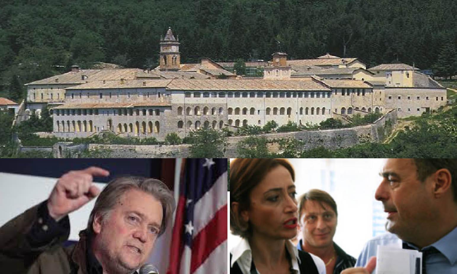 BATTLE FOR ITALIAN MONASTERY: Bannon's sovereign Christian gladiators against LGBT globalist cattoKomunists