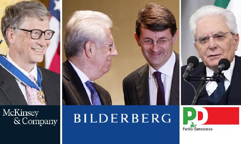 CoronaVirus: Italy Emergency in the Claws of McKinsey's Lobby with Bilderberg, BCG, Gates & CIA