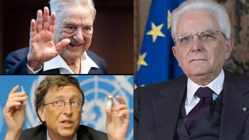 Gates, Soros & Mattarella's Gang to Kill Italy: Covid Terrorism pro Vaccine but against Tourists. Welcome Migrants Infected & Jihadists