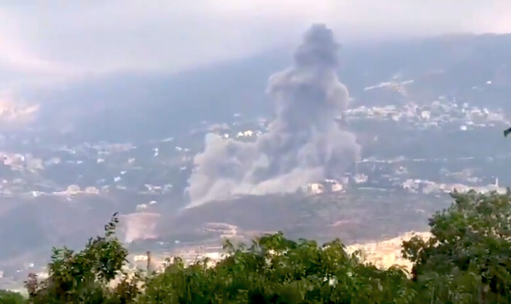 Another Large Blast hit Lebanon: Alleged Israeli Attack at Suspected Hezbollah Site (video)
