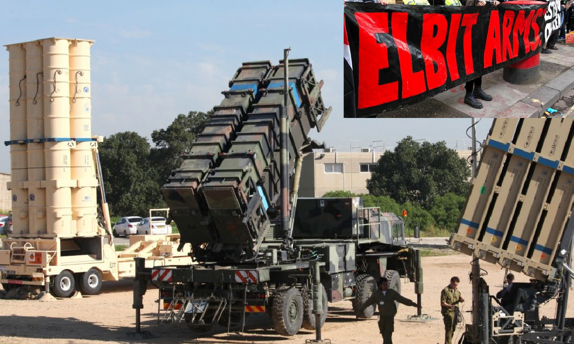 Iron Dome Israeli Air-Defence System received by US Army. Protests against Elbit in Balfour anniversary
