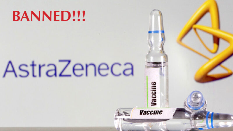 AstraZeneca Vaccines DISASTER! Stopped at all in Italy, Germany, French, Netherlands, Ireland. So in 12 EU countries (update)