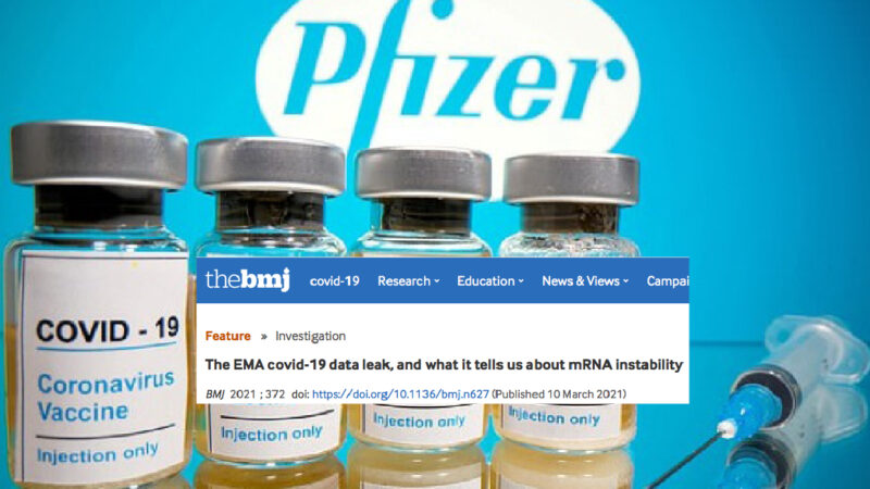 "Pfizer Covid-Vaccines with ""mRNA Flaws"" in EU. Company and EMA concealed, but BMJ discovered"