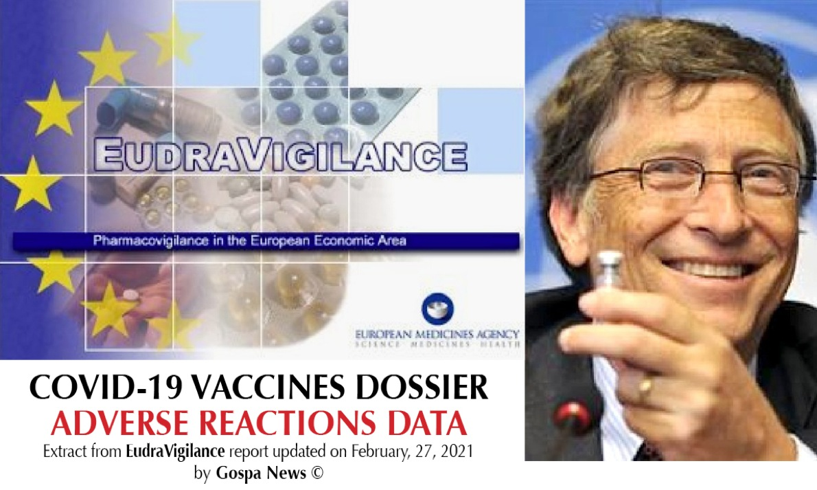 Decimation among Covid Vaccinated. Serious Adverse Reactions Boom: 2.787 Fatal Cases in EU, 1.095 in US