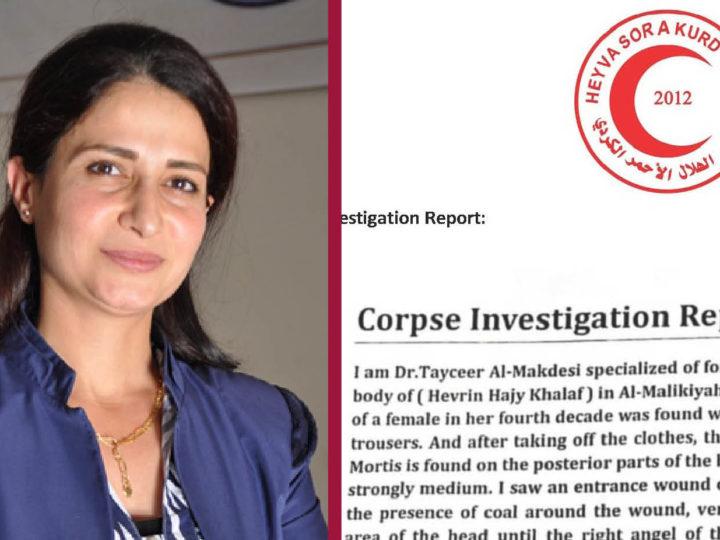 AUTOPSIA: L'ATTIVISTA HEVRIN MASSACRATA CON UNA RAFFICA DI FUCILATE ALLA TESTA DAI JIHADISTI