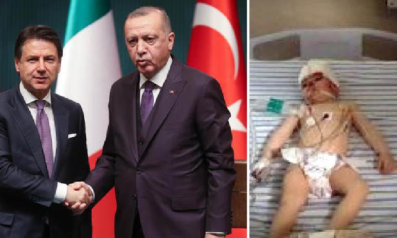 L'Italia abbraccia Erdogan per la LIbia: ma i jihadisti Turchi fanno morti e bimbi feriti in Siria