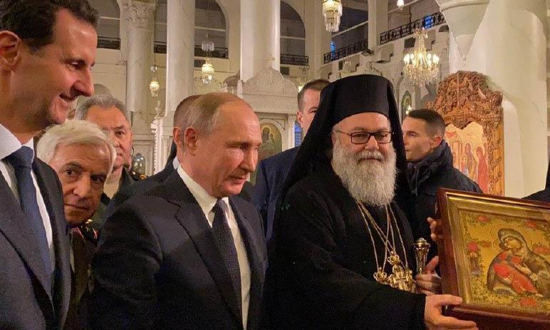 Trump uccide, Putin e Assad a Damasco lodano la Madonna per il Natale ortodosso
