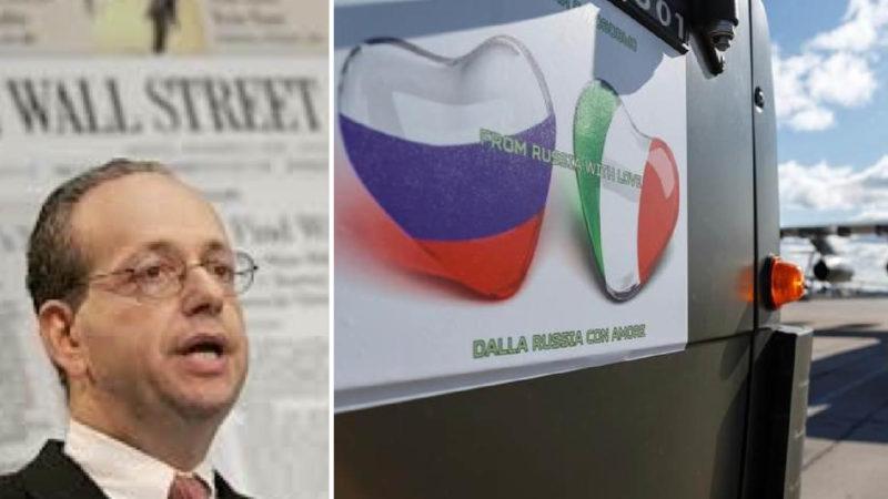 """SARS-2, AIUTI RUSSI ALL'ITALIA: DA WALL STREET LA CENSURA AL NOSTRO ARTICOLO. Diego Fusaro: """"Pd ha pronto bavaglio"""""""