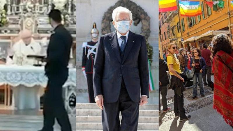 LOCKDOWN MASSONICO: Chiese vietate ai Cristiani. Piazze aperte ai comunisti. Mafiosi liberi… Mattarella Muto