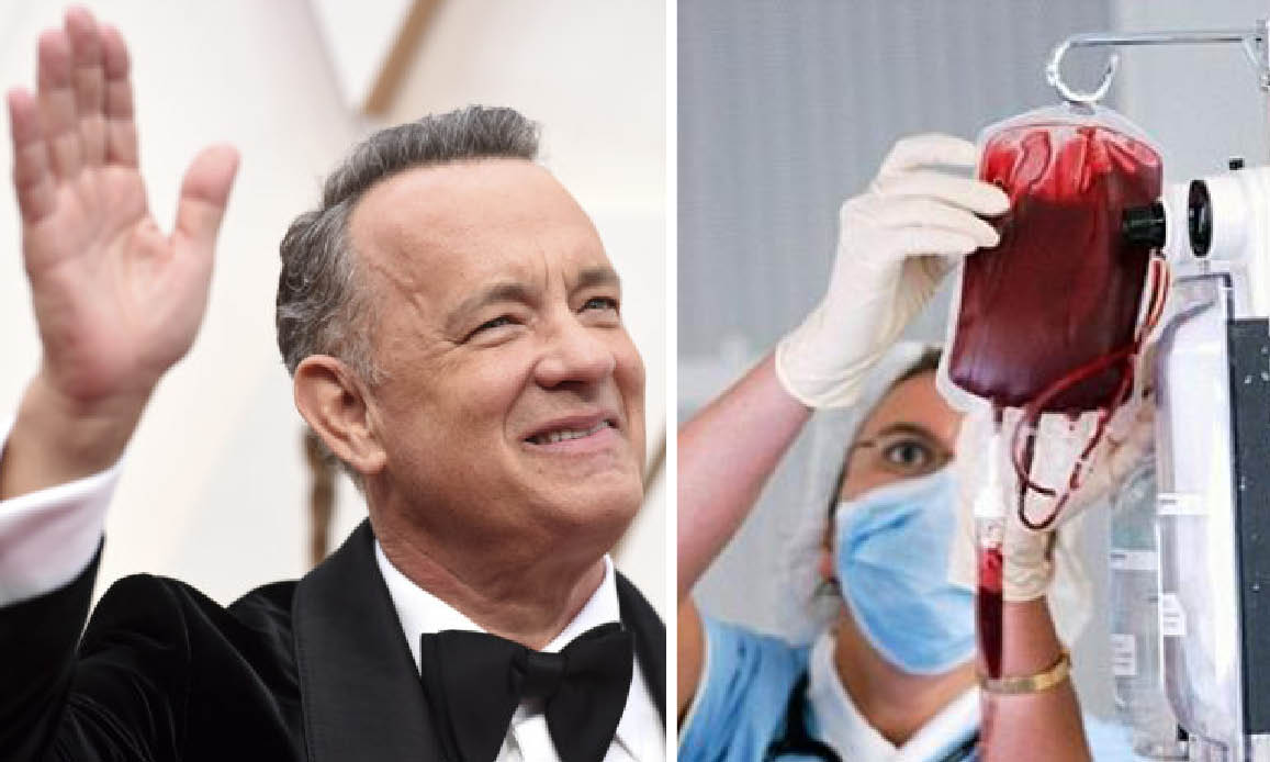 PLASMA DEI GUARITI SCONFIGGE COVID-19. Dopo i test a Pavia e Mantova la terapia in 116 università USA. Tom Hanks tra i donatori