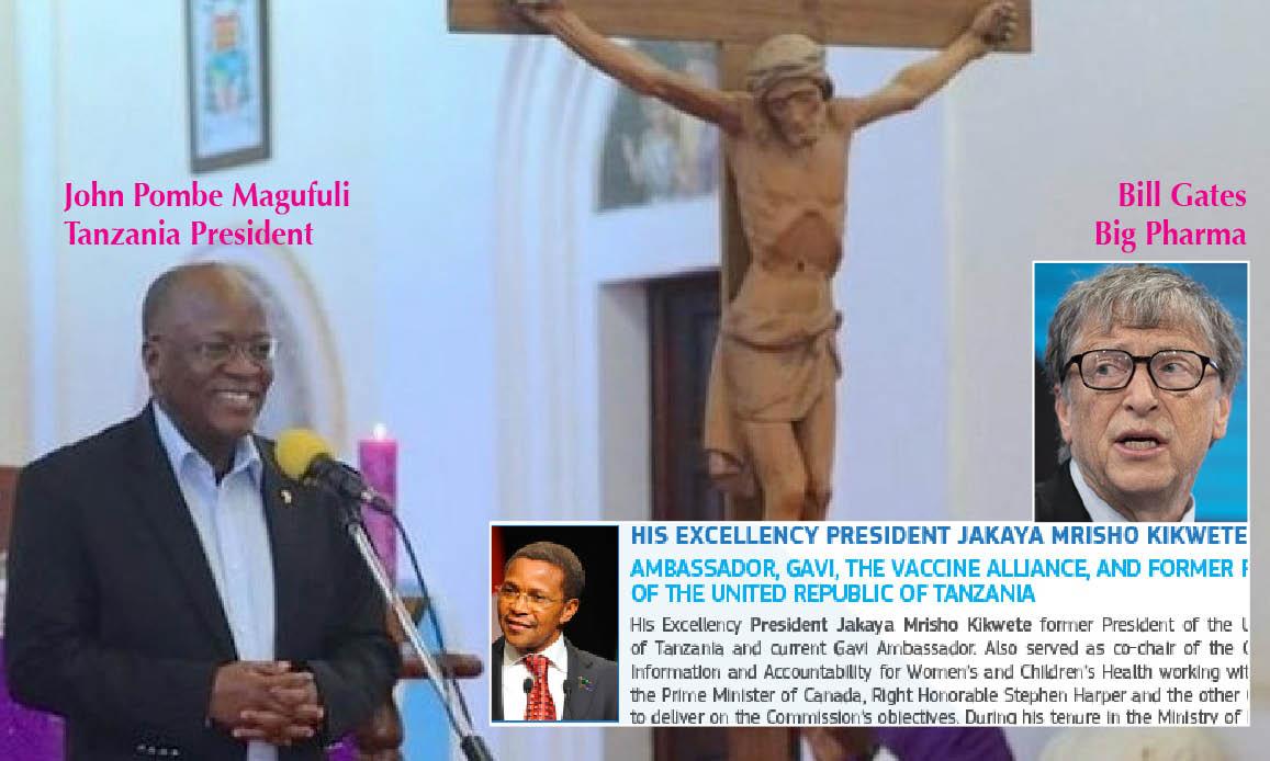 """WUHAN-GATES – 14. """"CoronaVirus del Diavolo: in Tanzania eliminato da Dio"""". Per il presidente cristiano è """"complotto"""". Il rivale al summit vaccini Gates-UE"""