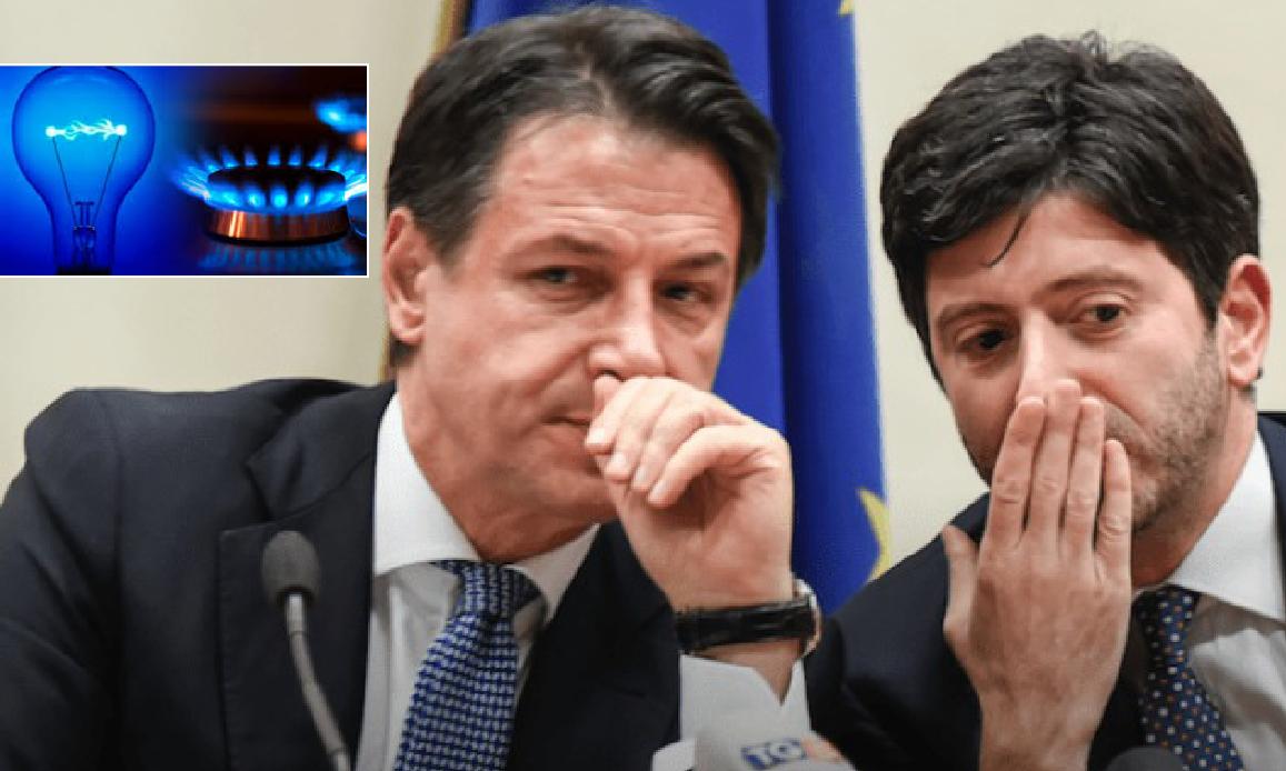 """COVID-19. EMERGENZA DI CONTE """"FINO A GENNAIO"""", MA NON VALE PER LE BOLLETTE. Stangata luce e gas all'Italia sul lastrico"""